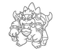 Super Mario Bowser Coloring Pages To Print Mario Bowser
