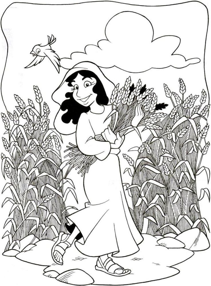 Preschool Coloring Pages Ruth And Naomi Coloring Pages