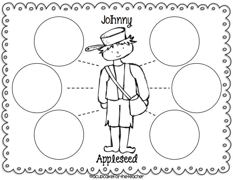 NEW 686 FIRST GRADE JOHNNY APPLESEED WORKSHEETS
