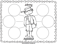 Johnny Appleseed Coloring Page - Coloring Home