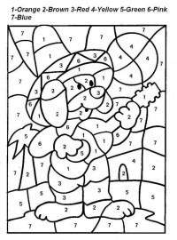 Color By Number Printable Worksheets - AZ Coloring Pages