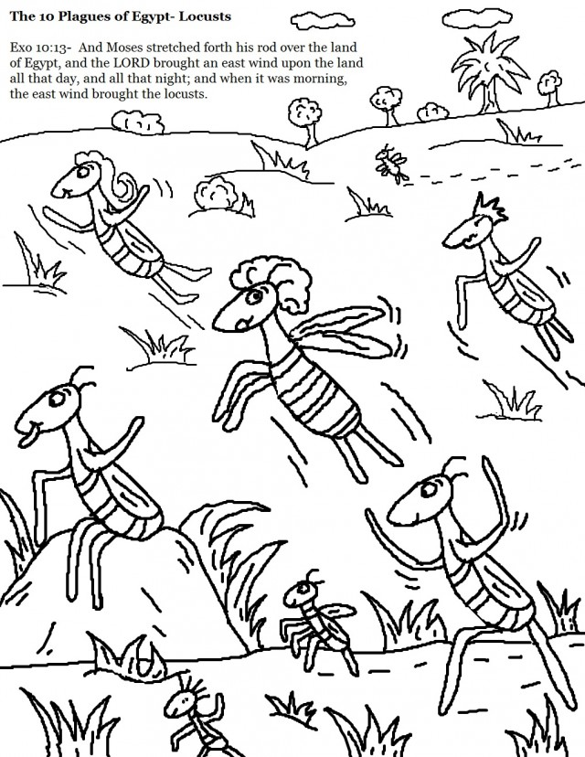 Coloring Pages Moses 10 Plagues Egypt Gods Online Coloring