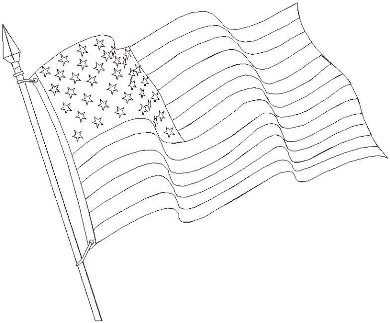 Free coloring pages of 13 colonies outline map