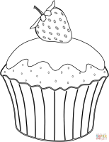Muffins Coloring Page Home Sketch Coloring Page