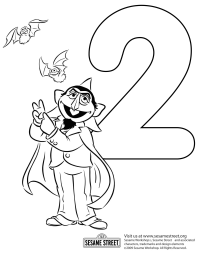 Sesame Street Face Coloring Pages - Coloring Home