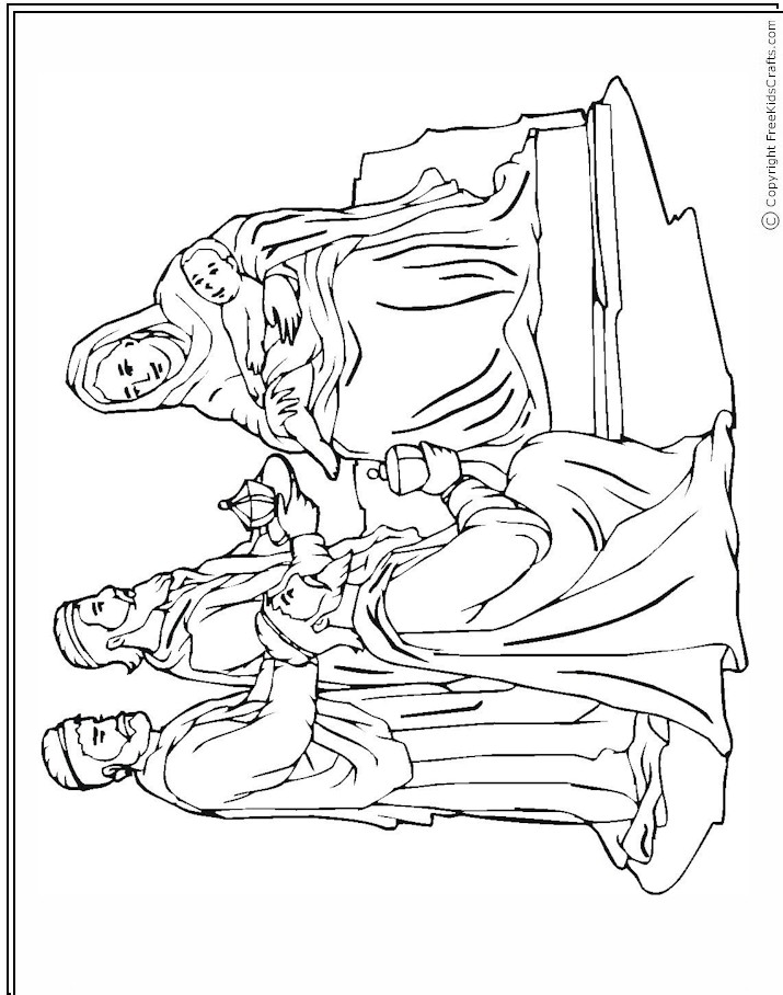 Three Wise Men Coloring Page AZ Coloring Pages
