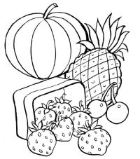 Healthy Food Coloring Pages - Coloring Home