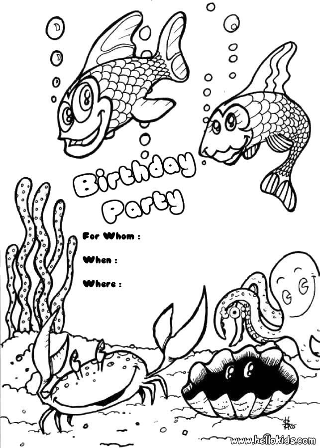 th birthday cards Colouring Pages