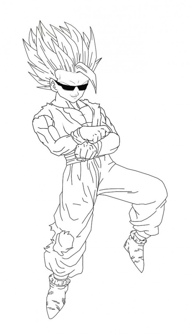 Coloring pages super saiyan 8 gohan