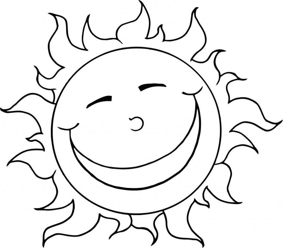 Vector Of Coloring Page Outline Design Happy Sun Id 23517