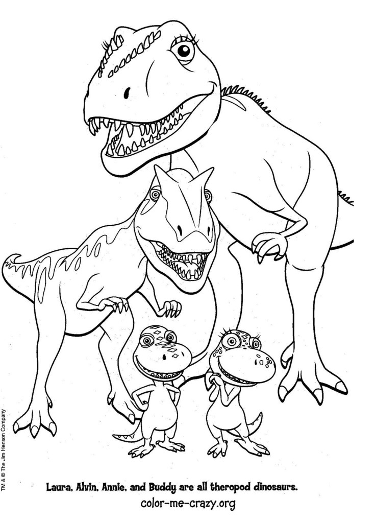 Free Dinosaur With Names Coloring Pages