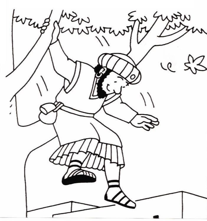 Bible Story Coloring Pages Zacchaeus Books Of The Bible