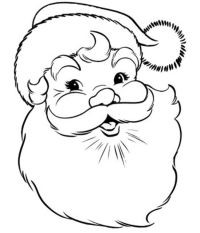 Free coloring pages of r santa