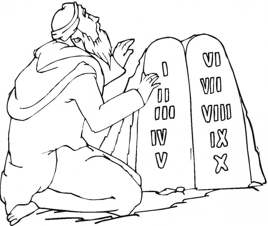 Baby Moses Coloring Page Printable