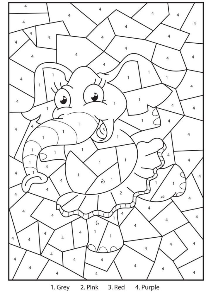 Addition Color By Number Math Worksheets Sketch Coloring Page
