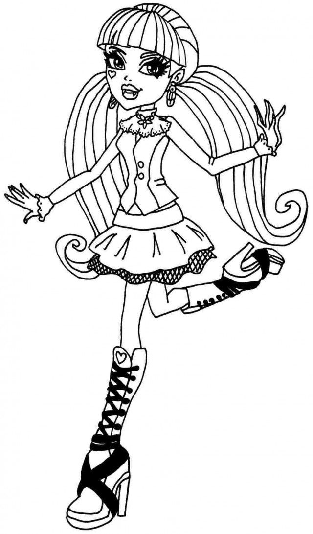 Draculaura Coloring Pages Coloring Home