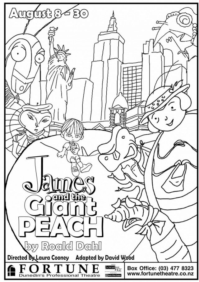 Bfg Roald Dahl Coloring Pages Sketch Coloring Page