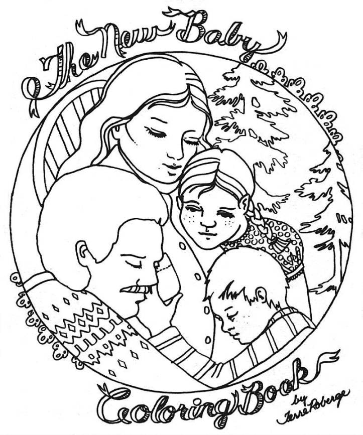 My Family Two Sons Pages Coloring Pages