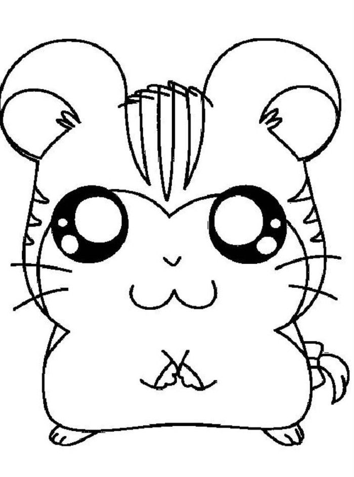 Free coloring pages of hamster in a cage