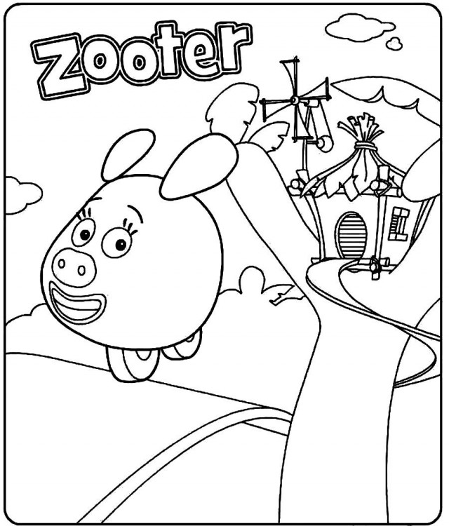 Zooter From Jungle Junction Coloring Page