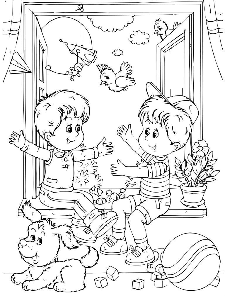 All About Me Friendship Coloring Page For Kids