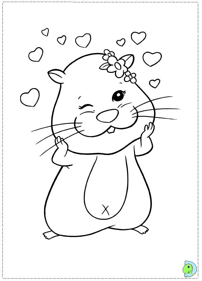 Colouring Pages Zhu Zhu Pets Colouring Pages for Kids