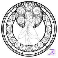 Stained Glass Coloring Pages - AZ Coloring Pages