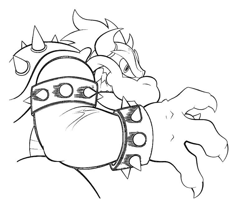 Free coloring pages of bowser minion