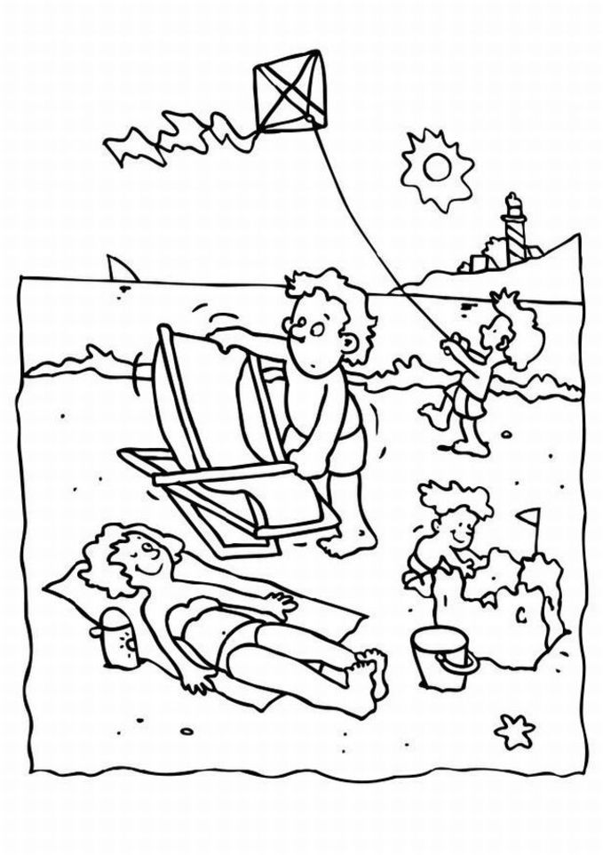 Summer Camp Coloring Pages