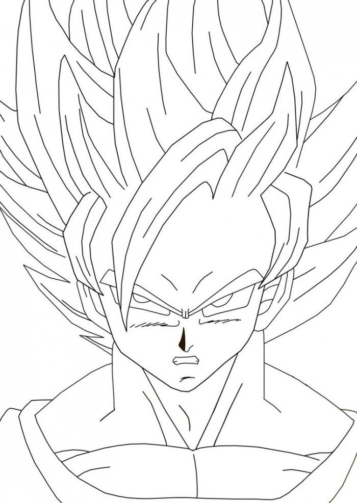 Free Coloring Pages Of Super Saiyan 2 Pictures