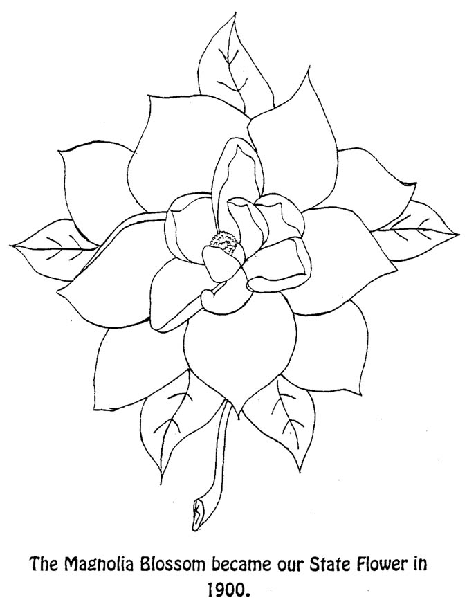 Louisiana Flag Coloring Page