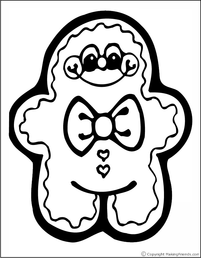 Cute Gingerbread Man Coloring Pages For Kids