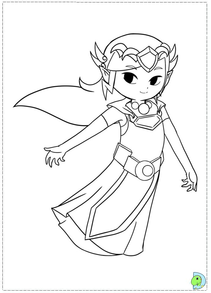 Zelda Breath Of The Wild Coloring Pages Free