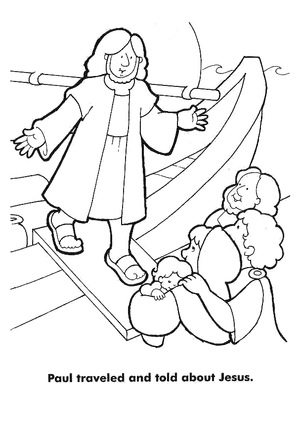 Saul Vs. Paul Coloring Page Coloring Pages