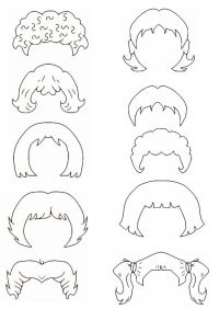 Free coloring pages of hair