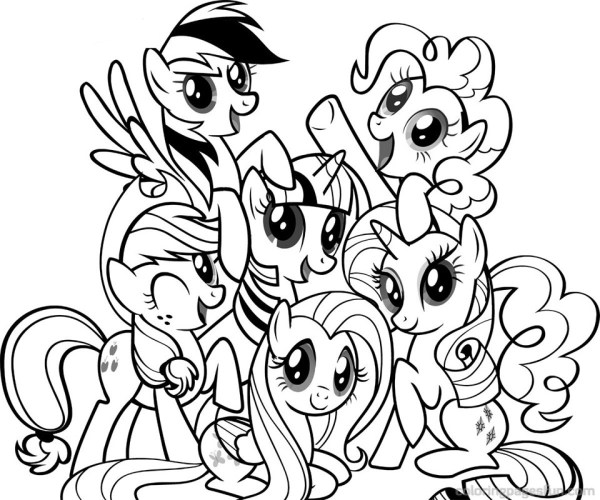 My Little Pony Coloring Book Pages AZ Coloring Pages