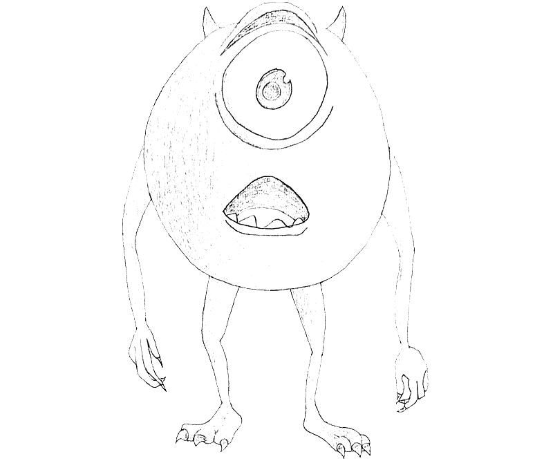 Baby Mike Wazowski Coloring Pages Printable Coloring Pages