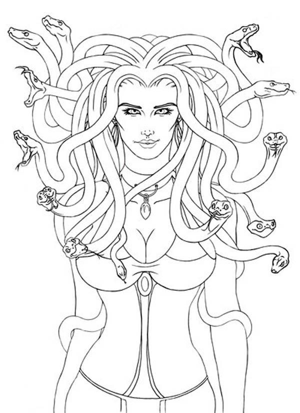 Medusa Coloring Page Coloring Home
