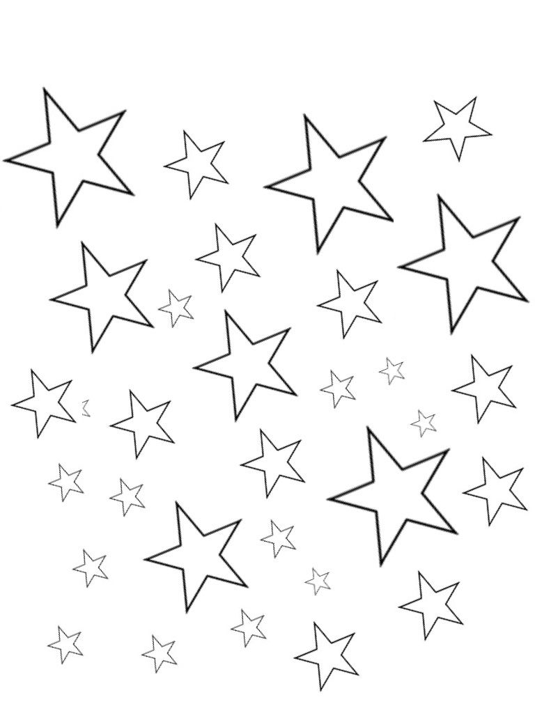 different size star templates