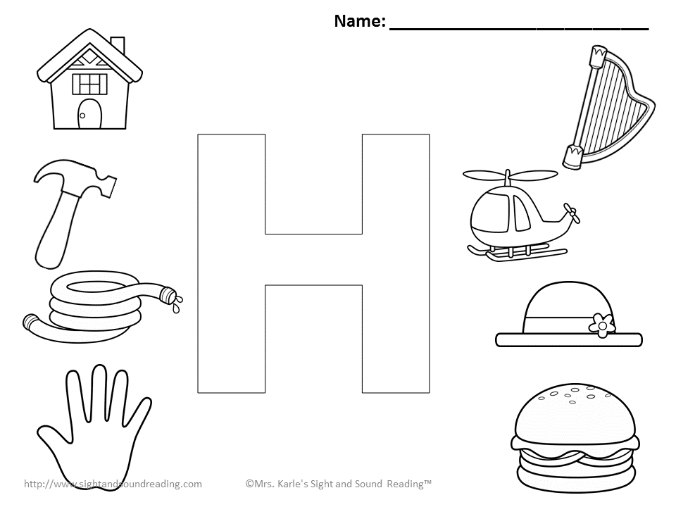 Start Letter H Coloring Page