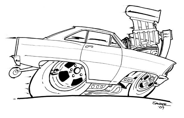 Rat Fink Coloring Pages Sketch Coloring Page