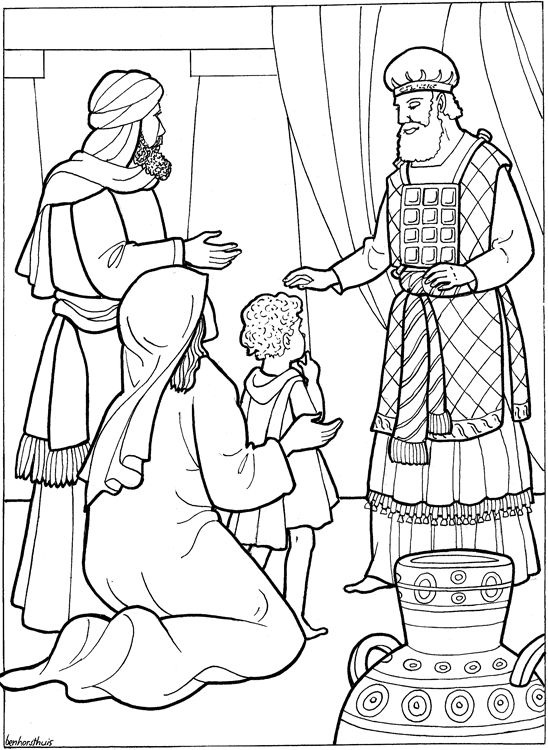 Hannahs Prayer Page Coloring Pages