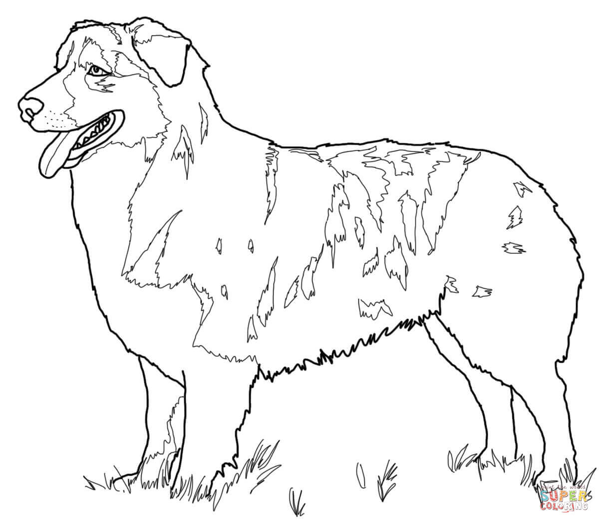 German Shepherd Dog Coloring Pages Sketch Coloring Page