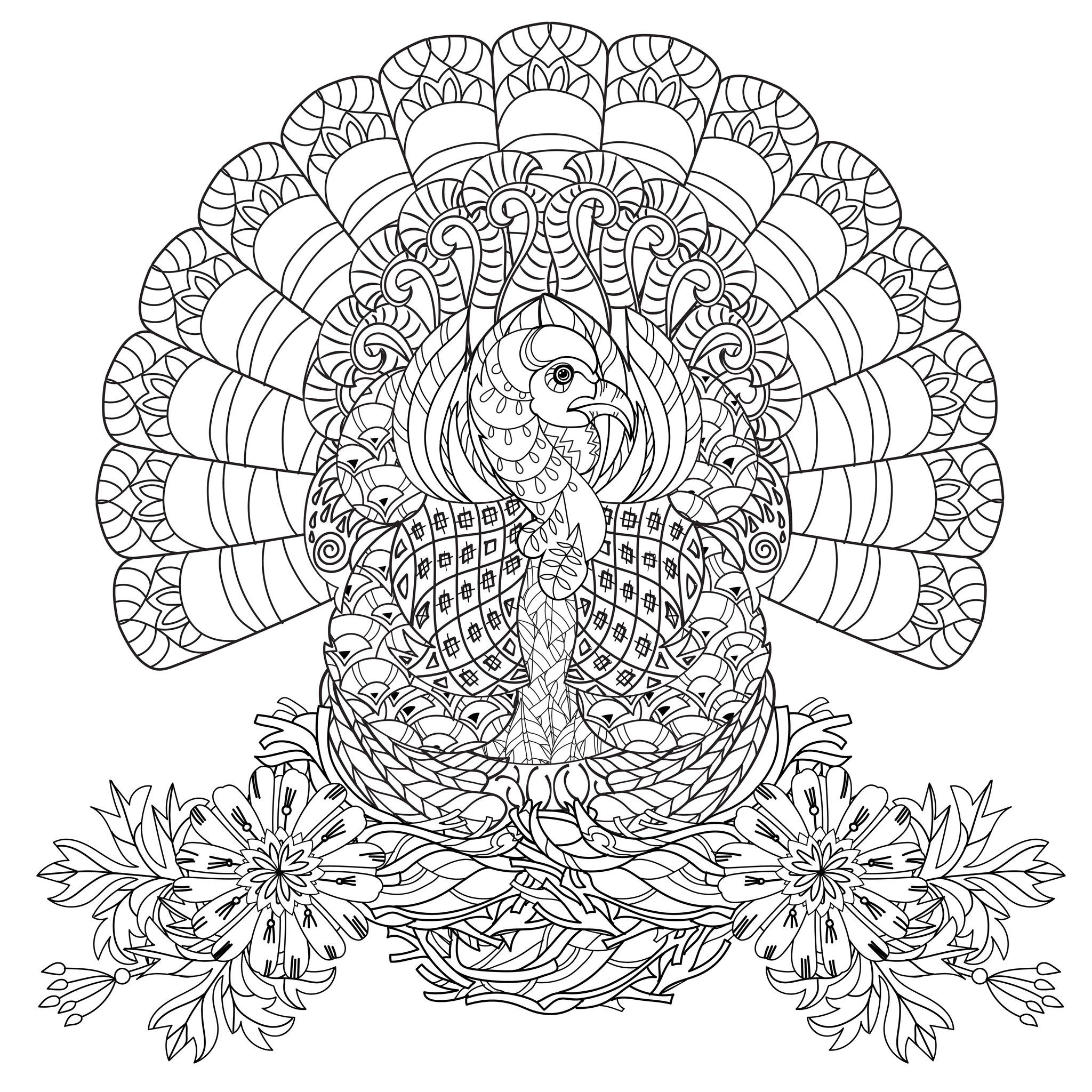 Thanksgiving Coloring Pages For Adults Home