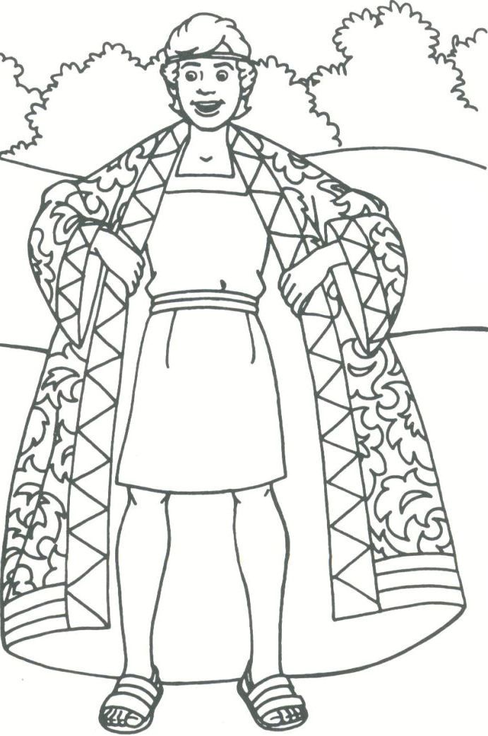 Joseph Bible Story Coloring Pages. Joseph And His Family