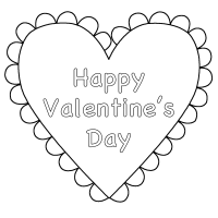 Valentines Day Heart Coloring Page - Coloring Home
