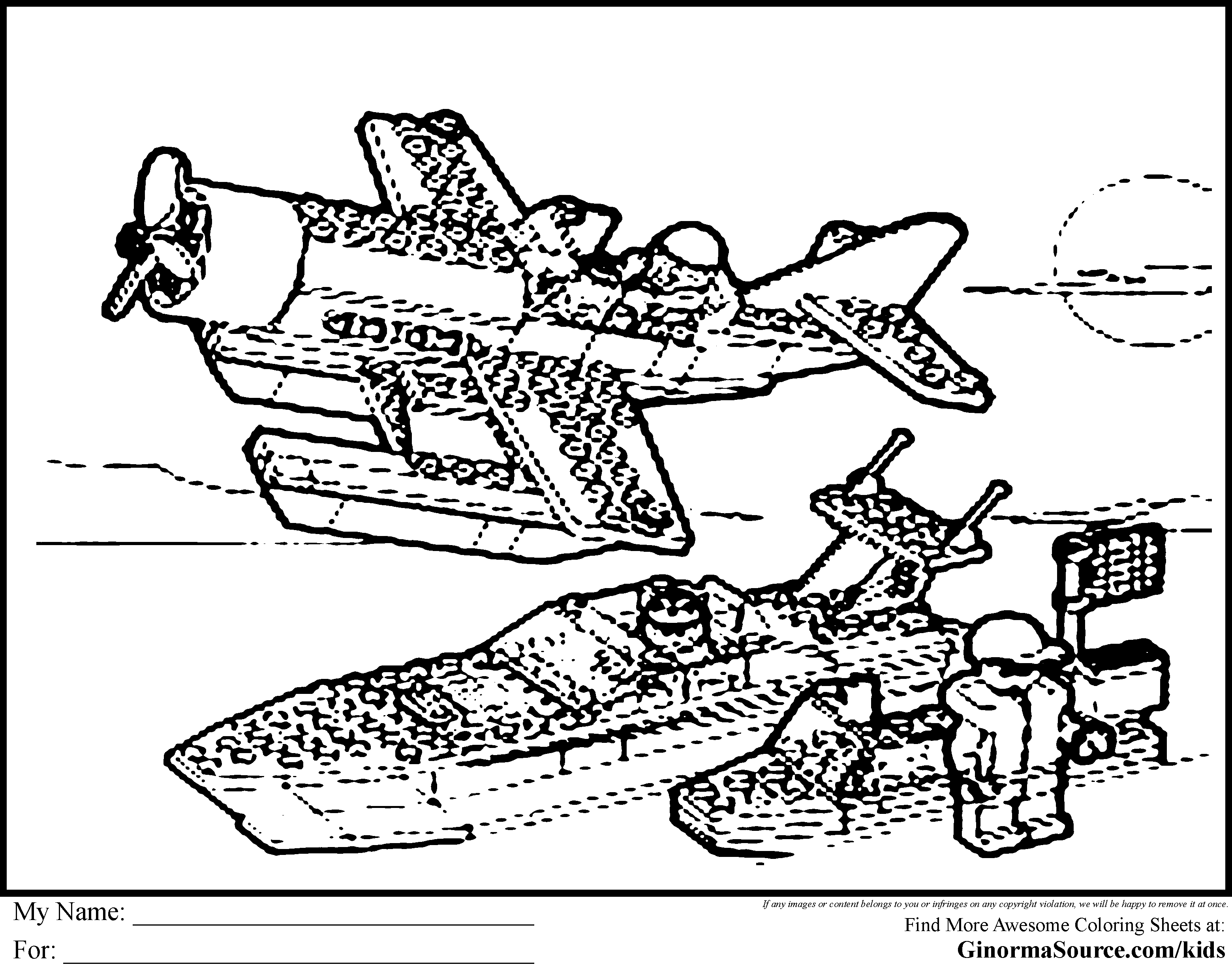 Lego City Printable Coloring Pages