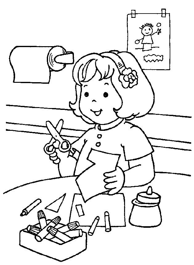 Free coloring pages of first day kindergarten
