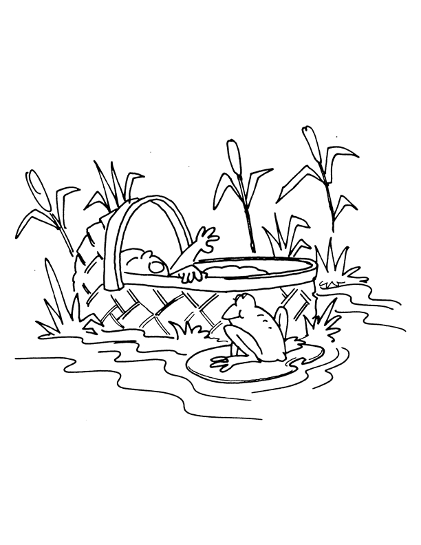 moses miriam coloring pages
