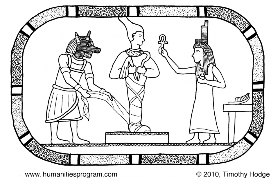 Ancient Egypt Coloring Pages For Kids Egyptian Gods